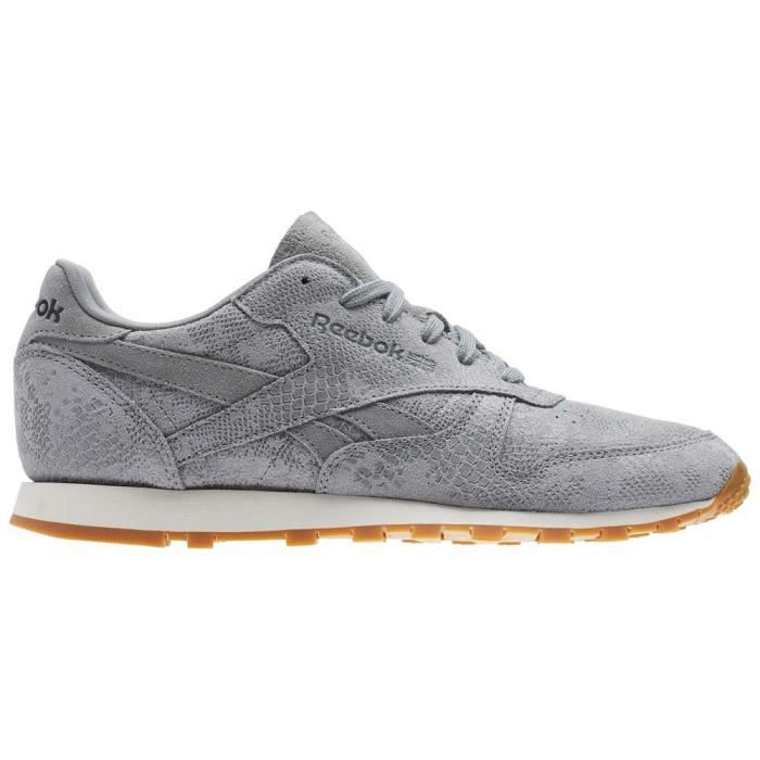 Reebok Femme Classic Classics Lether Chaussures Clean Baskets Ozwq7qE