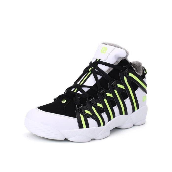 Chaussure De Trail Meilleure Absorption Des Chocs Plus Taille Flexibilité Chic Homme Noir-vert 41 R44994581_A900 b3PmsTI2