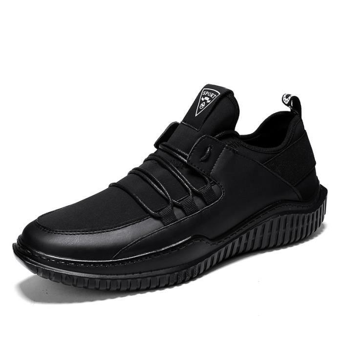 Basket Hommes Automne et Hiver Léger Confortable Chaussure Homme Sport BCHT-XZ201Noir44-1 B87RKOEFB
