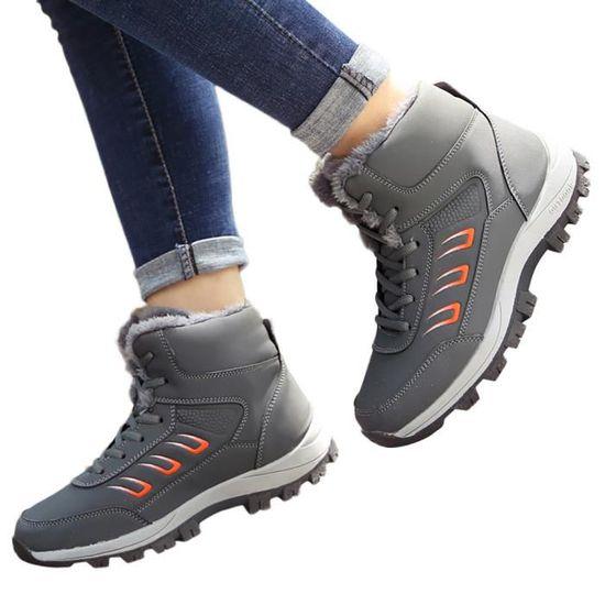 aeeb50aa693d0e Loisirs Plein Plates Chaud Des Gardez épais Air Talkwemot4987 Chaussures  Sport Femmes Bottes Dames Neige De ...