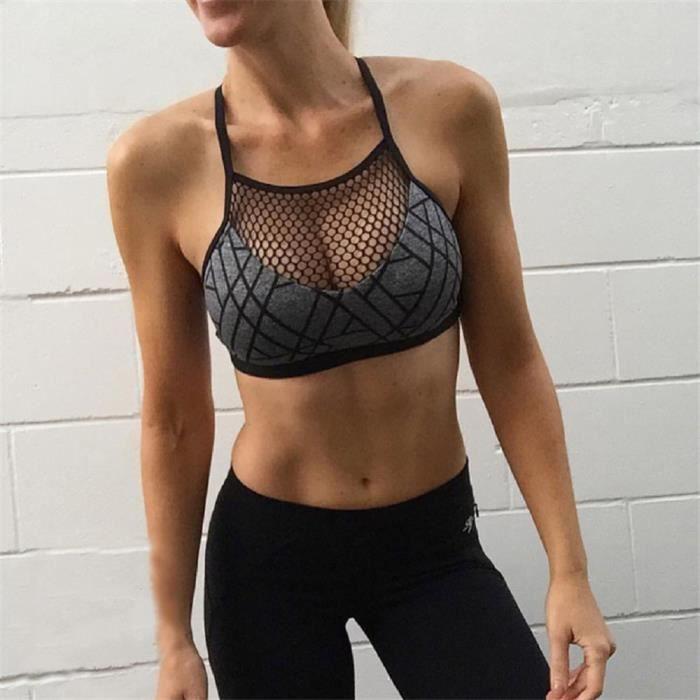 Imprimer Hot gorge Pachasky® Camisole Soutien Haut Vest Gym Gray Mesh Athleisure Court Yjj70412382l Nouveau Blouse Yoga Femmes L E0qBf