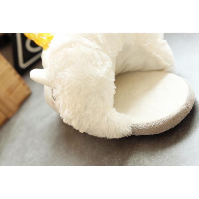 Chaussons Licorne DE Marque De Luxe Hiver Qualité Supérieure Chausson Femmes Pantoufle Unisexe Coton Nouvelle arrivee Grande Plus xqvsLU