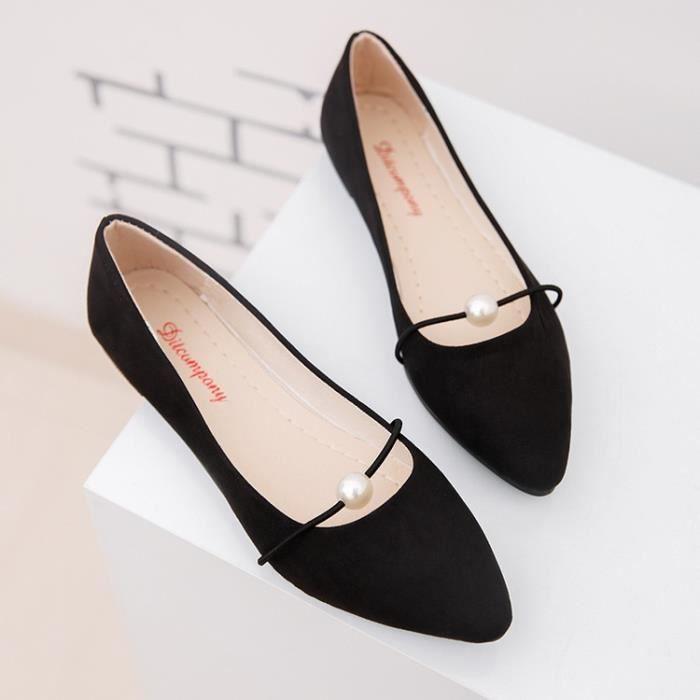 Pointy Suede de mode Couleurs haute Nouveau ballerine 40 Slip Ballet à Chaussures Femmes noir base Flats de plat Toe qualité vxqx5Btw