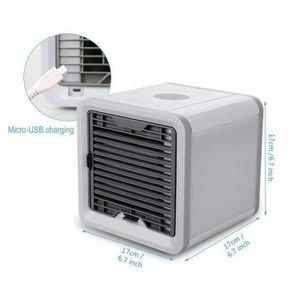 HUMIDIFICATEUR ÉLECT. Mini Climatiseur Mobile - Ventilateur Usb &Amp; Ra