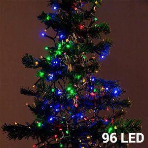 663ba2c7fe29e GUIRLANDE LUMINEUSE INT Lumières de Noël Multicouleur (96 LED)