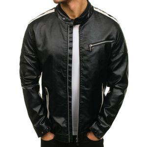 37432687c48b VESTE Veste cuir fashion pour homme Veste M428 noir