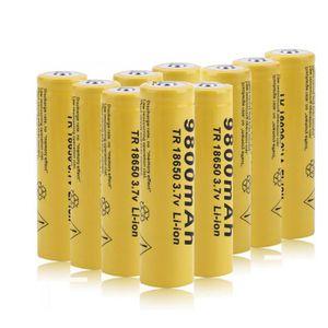PILES 18650 batterie 10 pieces 3.7V rechargeable batteri