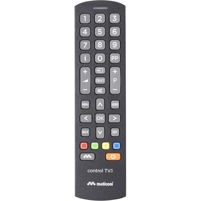 MELICONI CONTROL TV1 Télécommande préprogrammée - Compatible quasi toutes marques et modèles