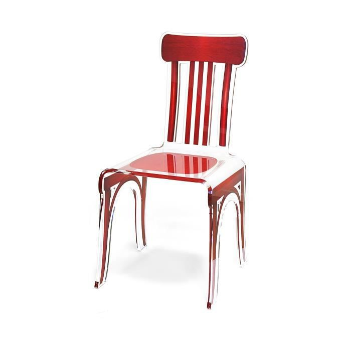 chaise acrila chaise bistrot rouge - Chaise Bistrot Rouge