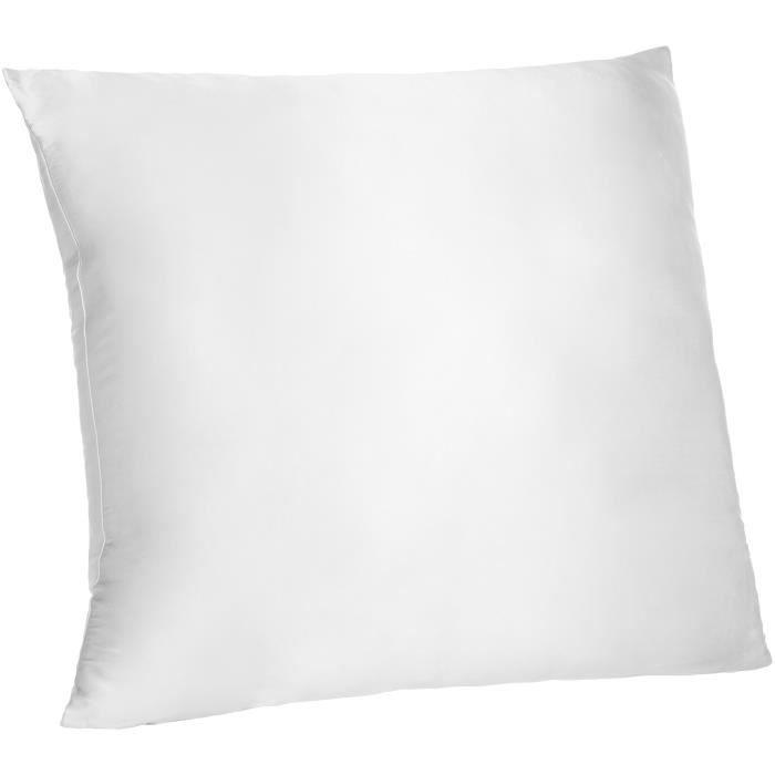 pinzon taie d'oreiller en soie-coton réversible blanc 65x65cm