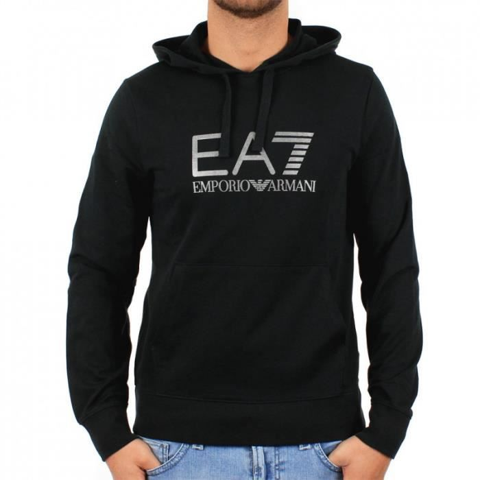 759a57ebed09 Sweat Emporio Armani EA7 Homme à Capuche 274377 Noir NOIR - Achat ...