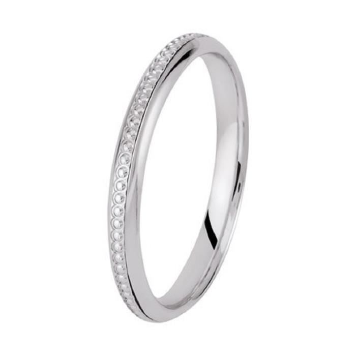 ALLIANCE OR BLANC 18 Cts 2,5mm
