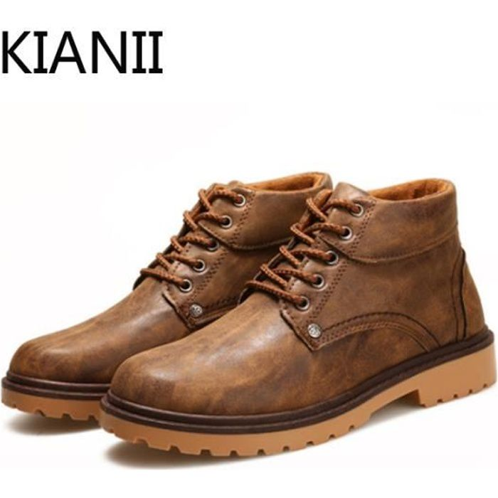 chaussure homme bottine homme pour l 39 hiver marron marron achat vente bottine cdiscount. Black Bedroom Furniture Sets. Home Design Ideas
