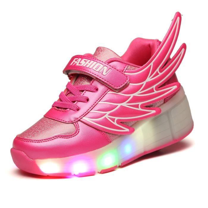 Enfants Heelys LEDEnfants Chaussures à roue simple Lumineuse À RoulettesSneakers