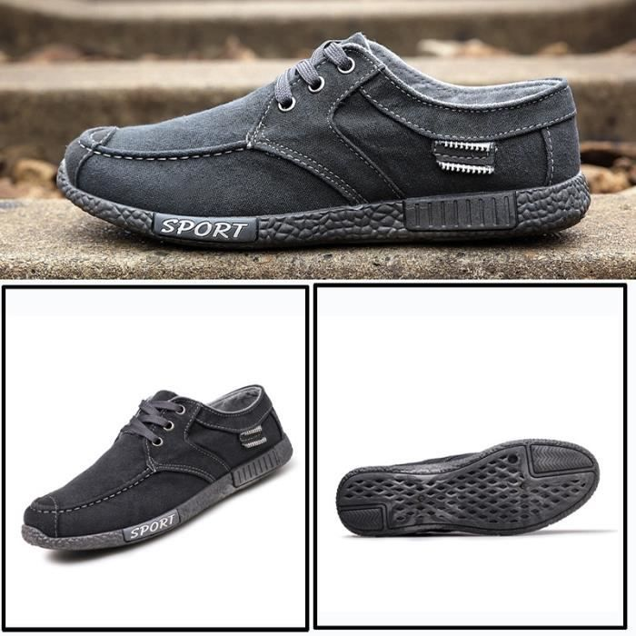 Skateshoes Homme Tendance cool Denim épais Sole Skater hommes gris taille7