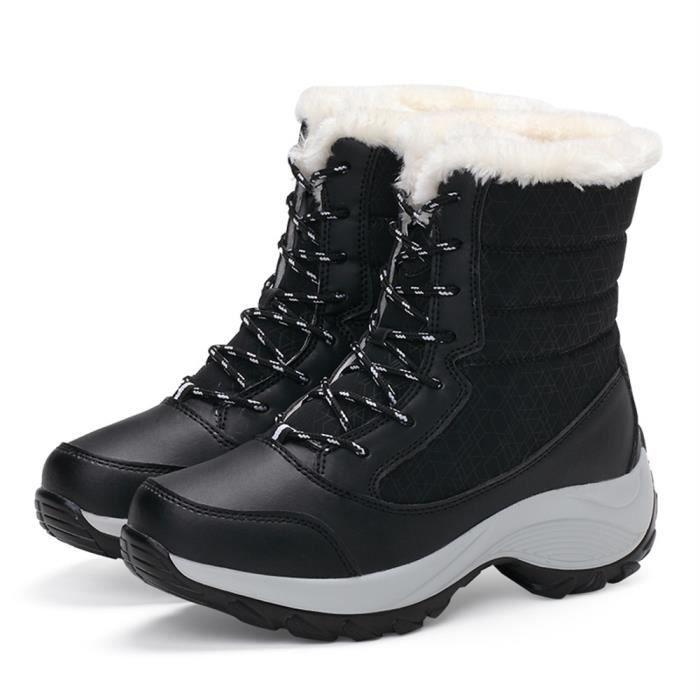 Bottes De Neige Meilleure Qualité Nouvelle Hiver Chaussure Mode Garde Au Chaud Plus De Cachemire Couleur Bottine Léger Beau 35-41