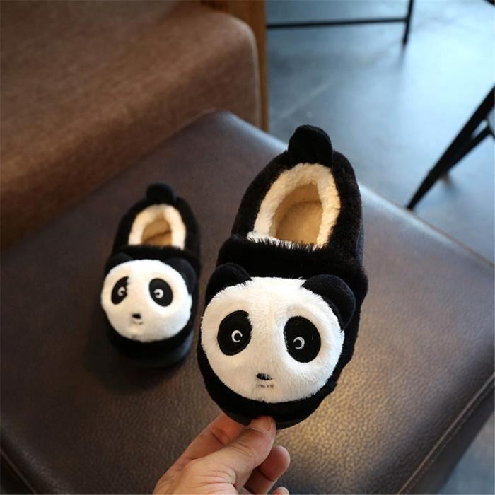 Panda Chaussons Nouvelle Mode Plus De Coton Enfant Hiver Chausson Haut qualité Garde Au Chaud Confortable Doux Beau Taille 20-22