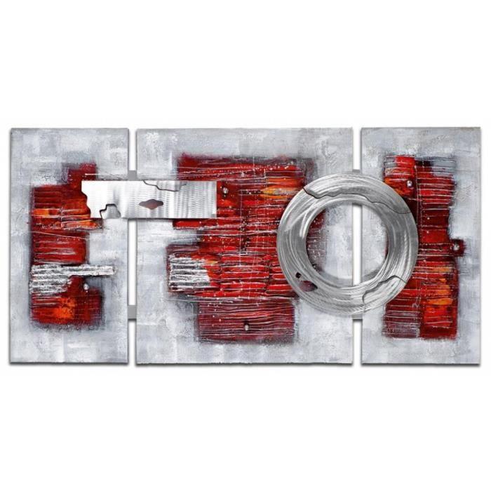 tableau triptyque rouge achat vente tableau triptyque. Black Bedroom Furniture Sets. Home Design Ideas