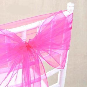 Noeuds de chaise rose achat vente noeuds de chaise - Noeud de chaise organza pas cher ...
