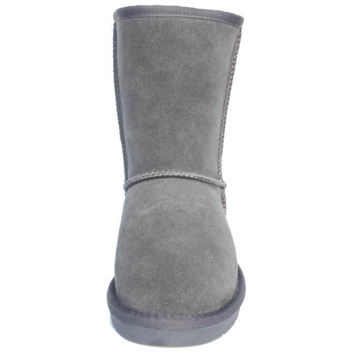 Winter Leather Classic Snow Ankle Boots PH57O Taille-38
