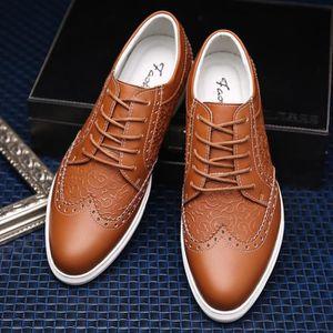 Respirante et confortable Mode Hommes Mocassins en cuir Casual Flat plus Taille 38-48,bleu,38,3177_3177