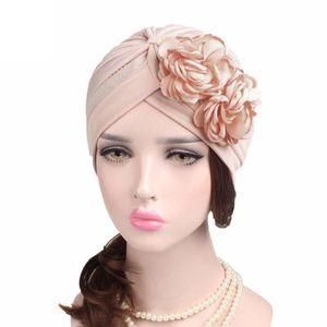 Fashion Femmes Dentelle Brodée up Chapeaux Bonnet Style moins élastique Head Wrap Type