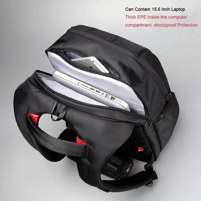 Sac à dos pour ordinateur portable Chargeur USB externe Ordinateur 15.6 pouces Sacs à dos Anti-vol Sac étanche pour hommes Femmes