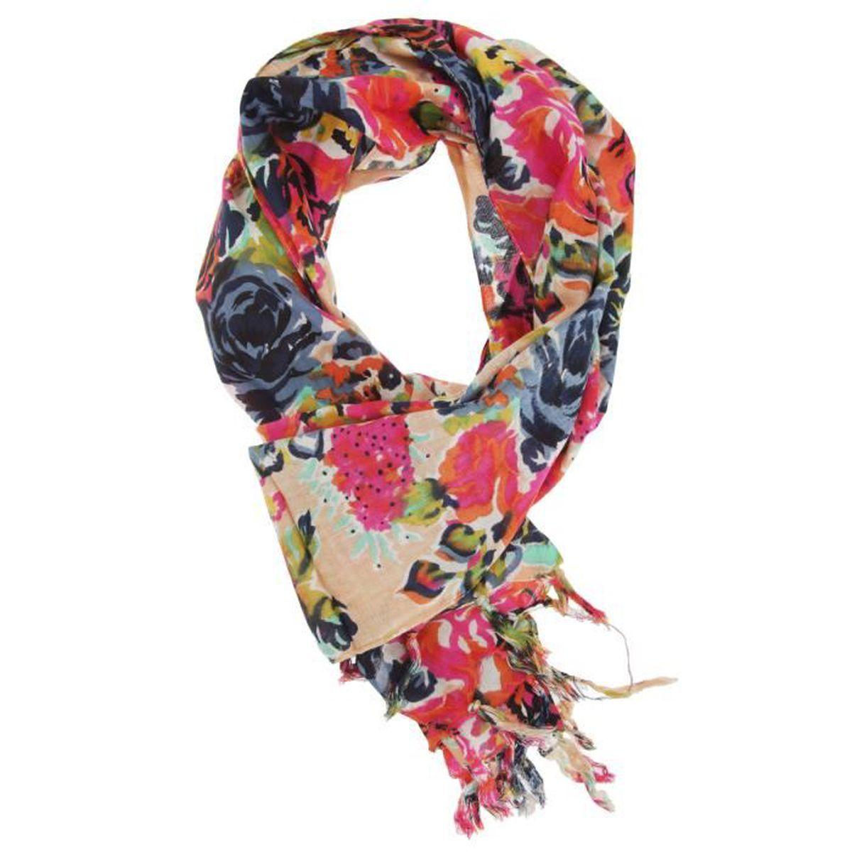 Foulard à motif floral - Femme - Achat   Vente echarpe - foulard ... 78a80c396a9