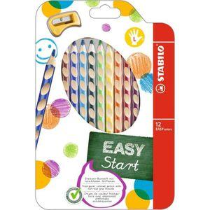 STABILO Étui thermoformé de 12 Crayons de couleur Easycolors + 1 Taille - crayon