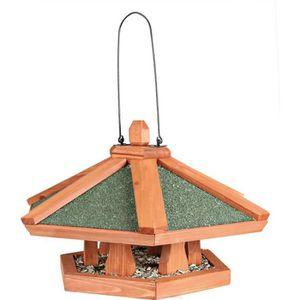 NATURA Mangeoire suspendue pour oiseaux ? 42 × 24 cm naturel
