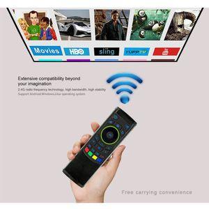CLAVIER D'ORDINATEUR 2.4G Télécommande Souris Air Clavier sans fil pour