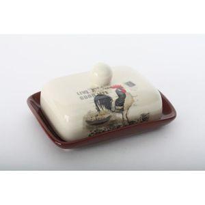 BEURRIER - HUILIER  Beurrier Coq en céramique - campagne - ferme