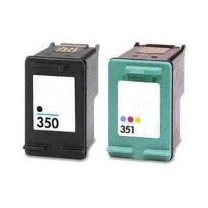 CARTOUCHE IMPRIMANTE Pack 2 cartouches compatibles HP 350-351XL 1BK-1CL