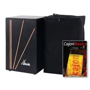 CAJON XDrum Primero Cajon Negra  incl. SET + CD et sac