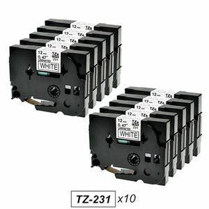 RUBAN - ENCREUR Pack de 10 Rubans Cassettes Brother TZe231/TZ231 C
