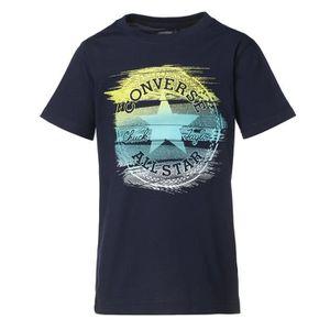 T-SHIRT CONVERSE T-shirt - Noir - Enfant Garçon
