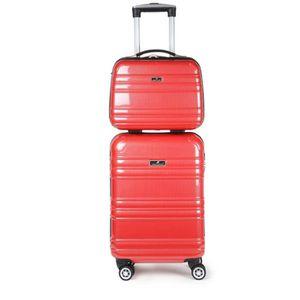 VALISE - BAGAGE Lot de valise cabine rigide 55 cm et son vanity RO