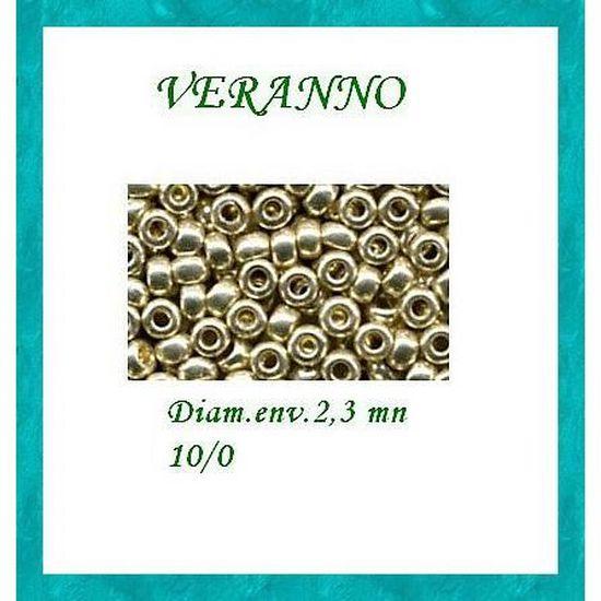 15 gr.de rocaille argenté européenne.