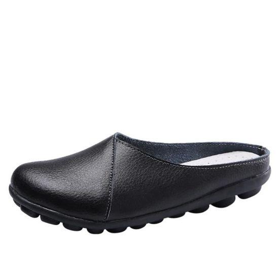 Flats Pure Color Soft Bottom Chaussures pour femmes Chaussures Slip-On Casual bateau   LJD80327892BK Noir Noir Noir - Achat / Vente slip-on