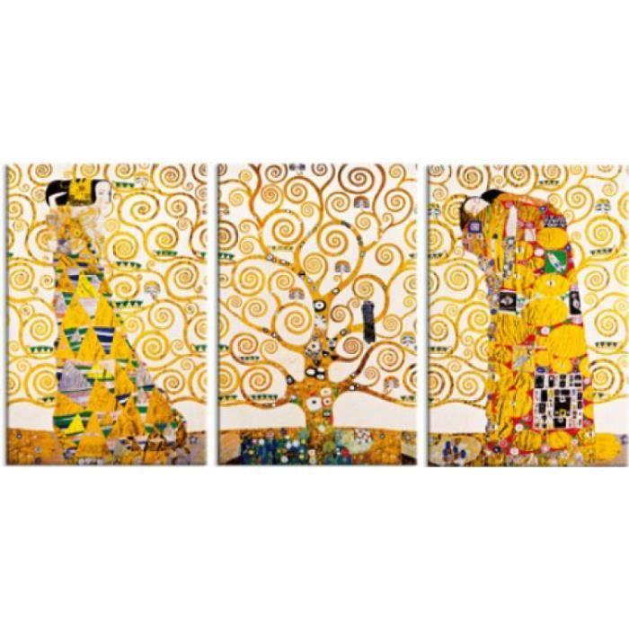 gustav klimt poster reproduction sur toile tendue sur ch ssis la frise de stoclet 1905 1911. Black Bedroom Furniture Sets. Home Design Ideas
