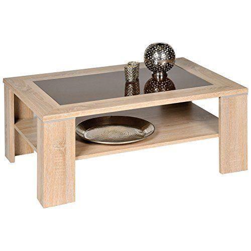 alfa tische m2263 santos table basse en bois de ch ne sonoma et verre brun 100 x 65 cm achat. Black Bedroom Furniture Sets. Home Design Ideas
