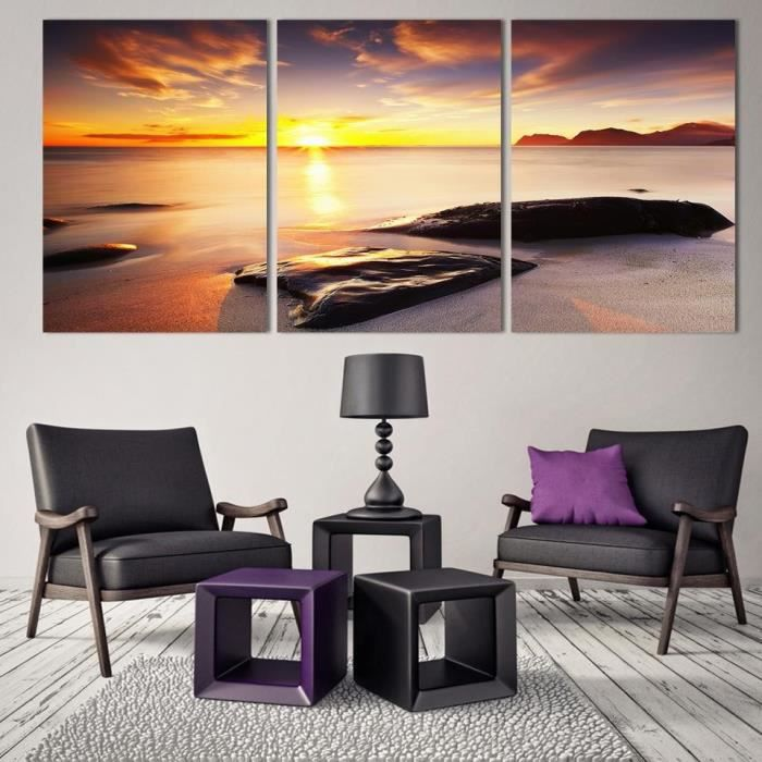 tableau decoration salon bord de mer achat vente tableau decoration salon bord de mer pas. Black Bedroom Furniture Sets. Home Design Ideas