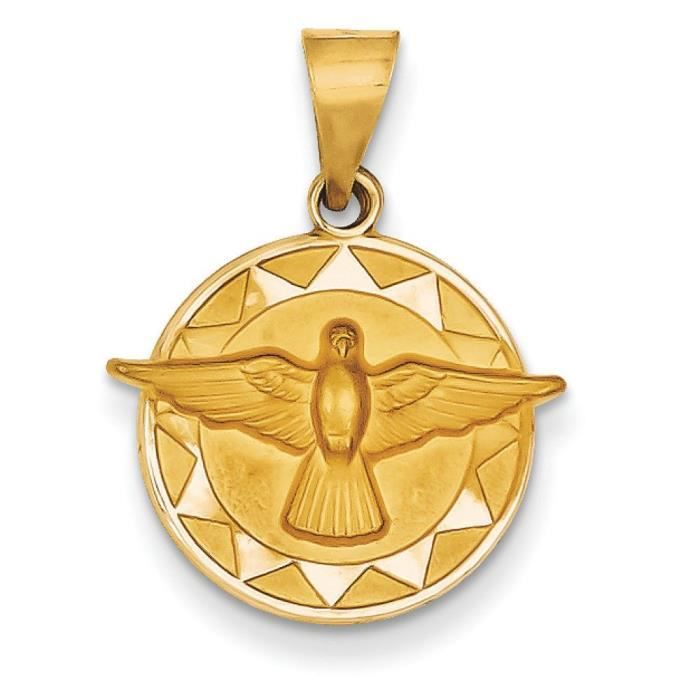 Esprit médaille saint 14ct pendentif femme-rond-ø 15 x 17 mm