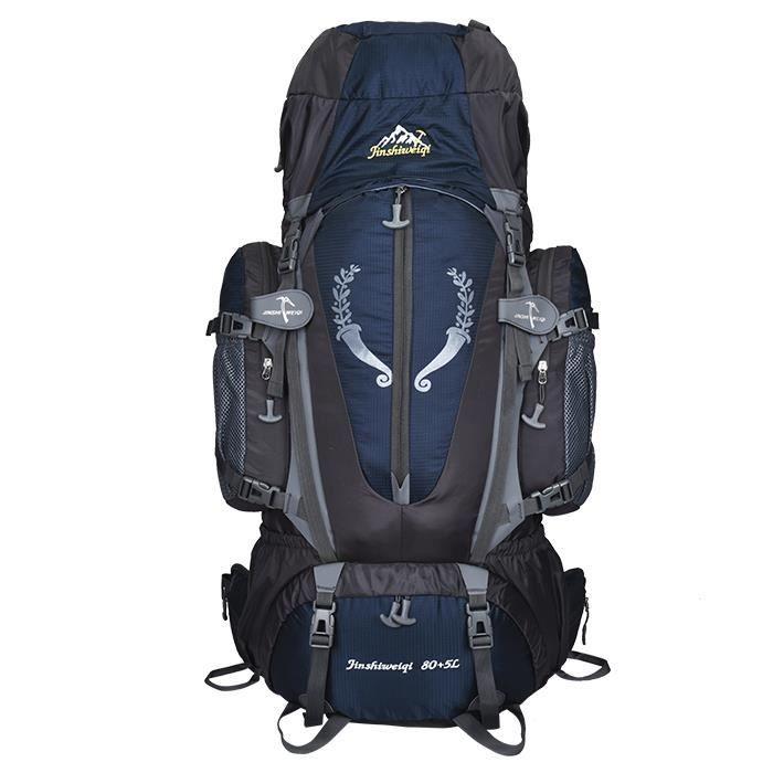 GLAM®(Bleu foncé)homme femme sac à dos de sport sac de camping sacs en nylon imperméable grand sac à dos