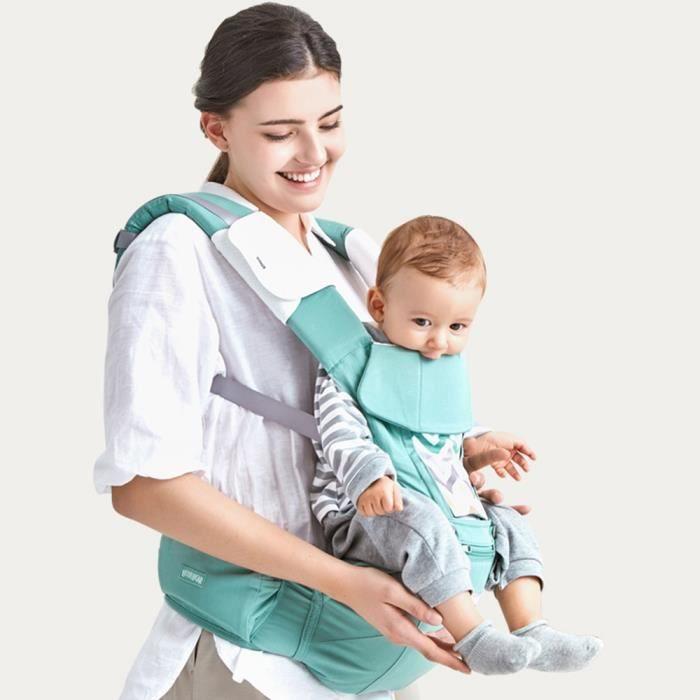 Porte bébé réglable 3 en 1 Sac à Dos Respirant avec Poches 3 Positions de  Transport Siège à hanches Support à dos Appui-tête e9537d50fd3