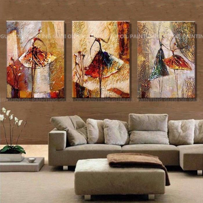 tableaux sur toiles peinture a la main huile avec cadre achat vente pas cher. Black Bedroom Furniture Sets. Home Design Ideas