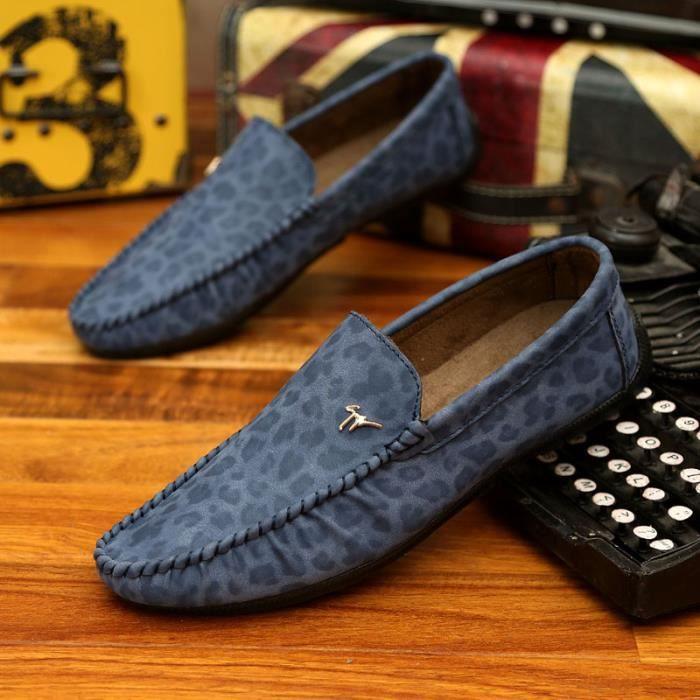 910-Bleu-44 Chaussures Fashion Leopard
