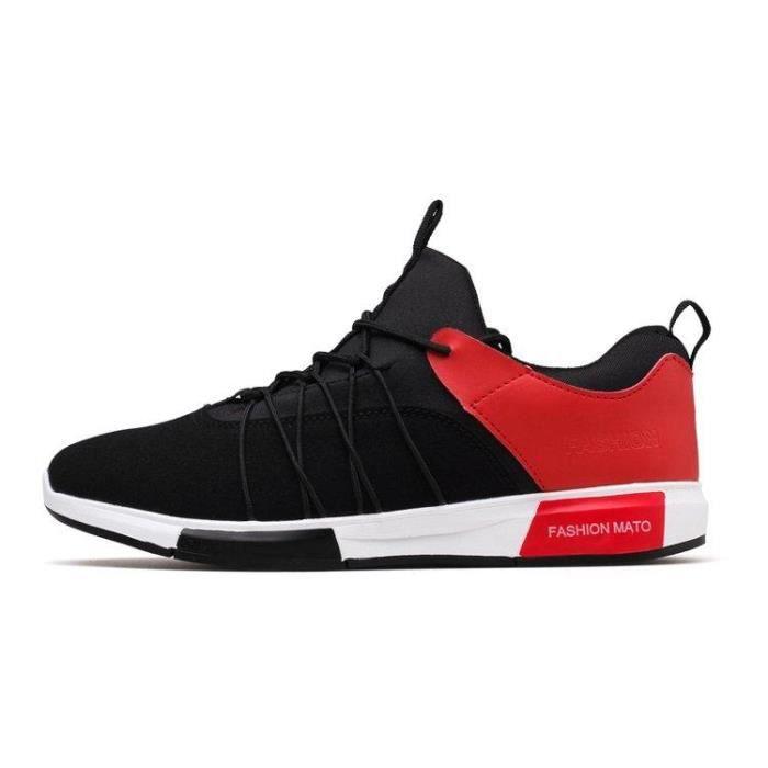 Chaussures DéTente Poids LéGer Un Amorti Caoutchouc Amortisseur Homme Noir-rouge 43 R42548827_59999
