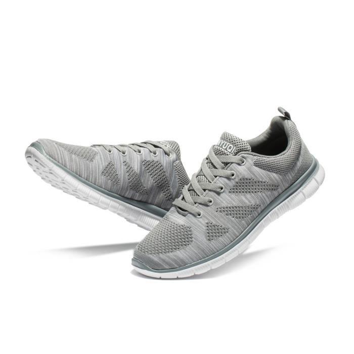 de l'air qualité Chaussures Mode Haut Hommes perméable Antidérapant de Taille à course Plus Chaussures Basket filet homme TFFxAqd4