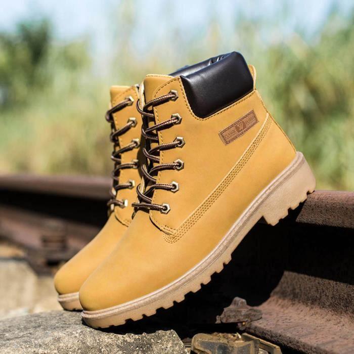 Les Jaune Automne Martin Bottines Chaud Chaussures Fourrure Doublé D'hiver Hommes Bottes qxwPpqrv